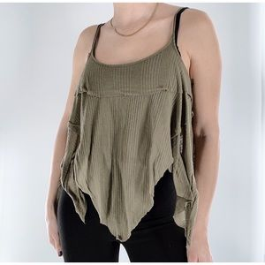 3 for $25 Free People Wispy Olive Green Tank